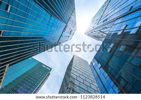 modern office building in urban #1123828514