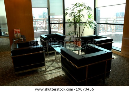 modern Office building interior - stock photo