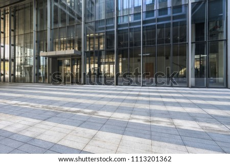 modern office building outdoors in the downtown #1113201362