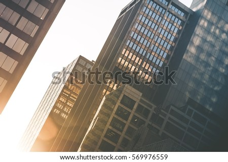 Modern Office Buildings. Commercial Buildings Closeup Corporate Photo Concept. #569976559
