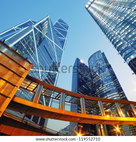 Modern office buildings in Central Hong Kong. #119552710
