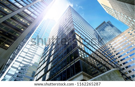 Modern office buildings in city #1162265287
