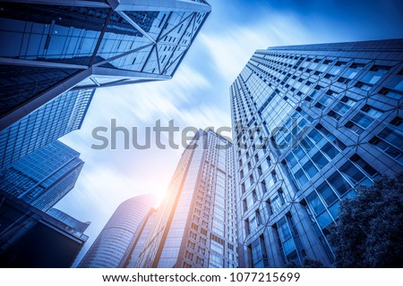 Modern office close-up is in hangzhou, China. #1077215699