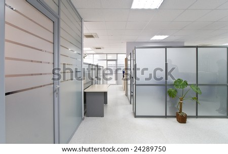 Modern office interior, hall