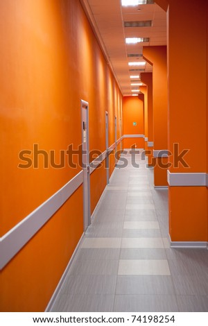 Modern office interior - perspective of a corridor