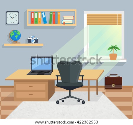 Royalty Free Modern Office Interior With Designer