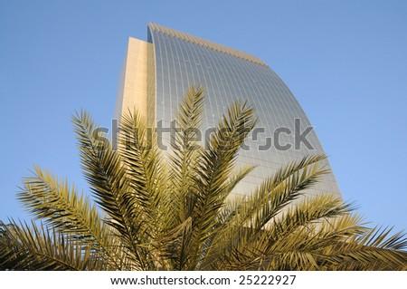 Modern office tower in Dubai city