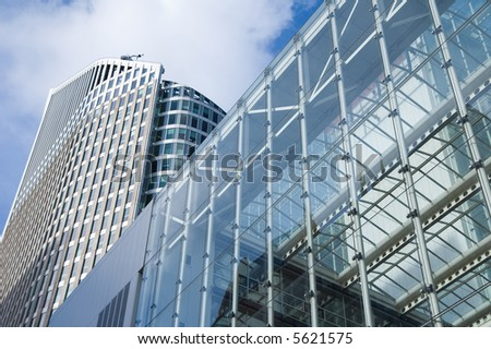 modern office tower made from glass