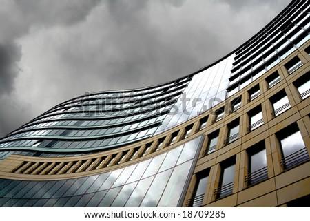 Modern offices in Frankfurt, financial capital of Europe