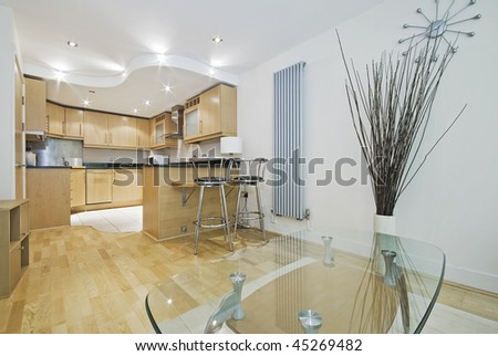 open plan lounge kitchen simple modern open plan living room and