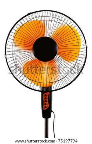 modern orange fan on a white background #75197794