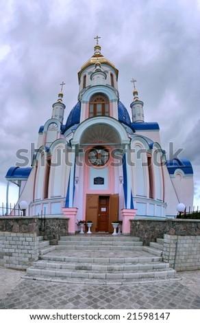 Modern Ukrainian Orthodox Church of St. Valentine Building in Sumy,