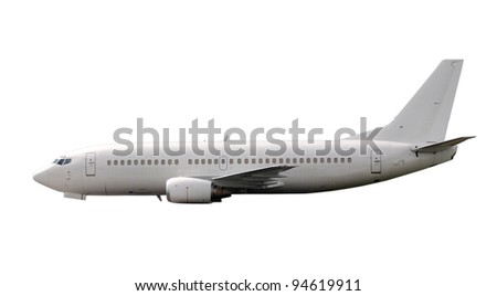 Modern passenger jet airplane side view
