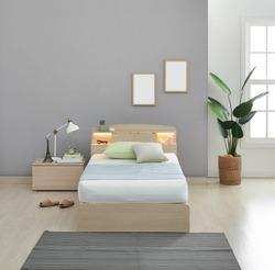Modern peaceful Bedroom. modern style bedroom. Peaceful and serene bedroom. Single led bed for kids.