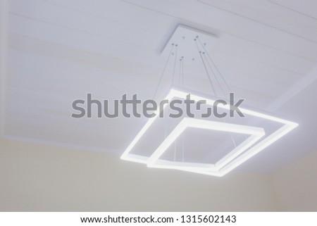 Modern Pendant light lamp illuminated, Elegant Chandelier illuminated. #1315602143