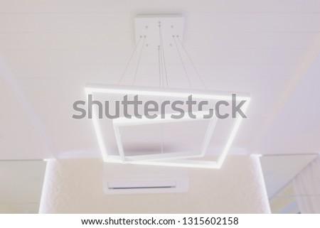 Modern Pendant light lamp illuminated, Elegant Chandelier illuminated. #1315602158