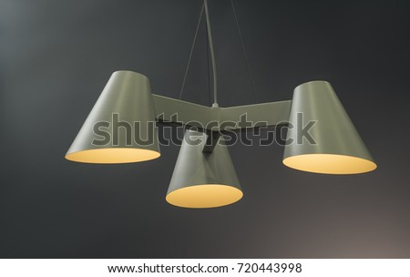 Modern Pendant light lamp illuminated, Elegant Chandelier illuminated #720443998