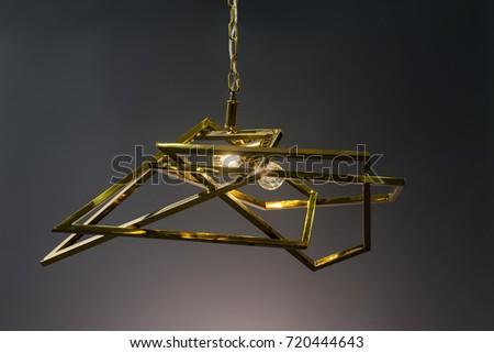 Modern Pendant light lamp illuminated, Elegant Chandelier illuminated #720444643