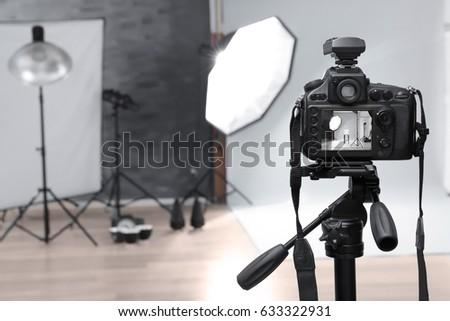 Modern photo studio with professional equipment #633322931