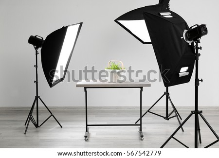 Modern photography studio for object shooting #567542779
