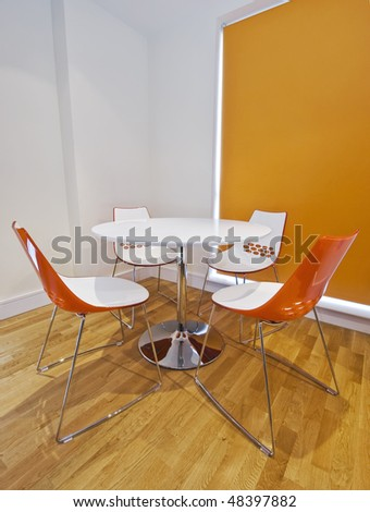 modern plastic dining table with retro design