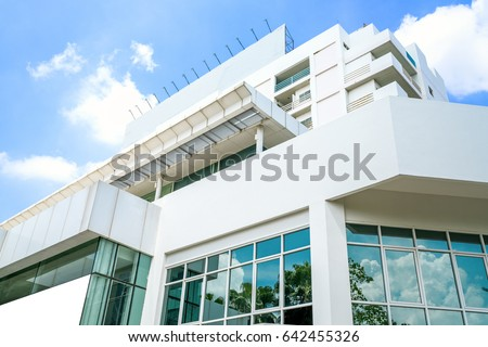 Modern public hospital building