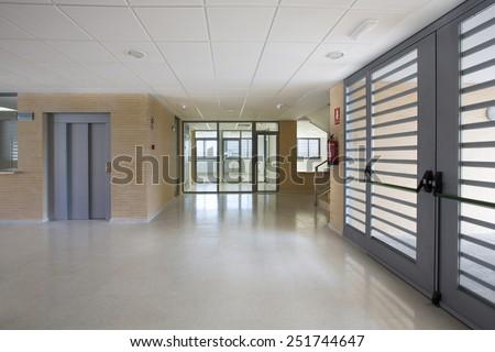 Modern public school, interior