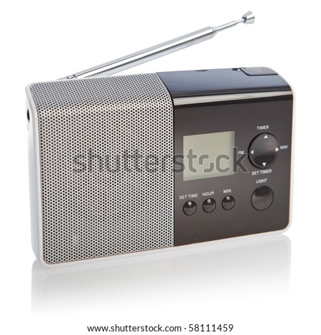 Modern Radio Transmitter Isolated On White Background With ...