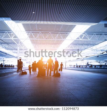modern railway station in china