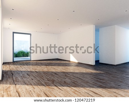 Modern real estate without furniture