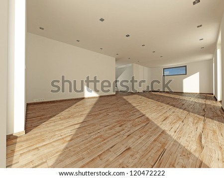Modern real estate without furniture - stock photo