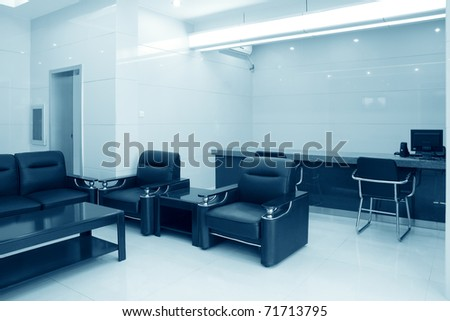 modern reception room in a bank