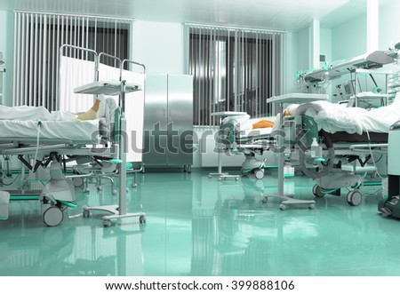 Modern recovery room in hospital