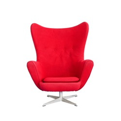 Modern Red Chair isolated on white background (with clipping path)