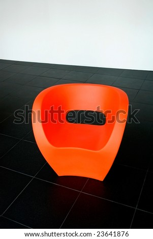 modern red chair with  great design