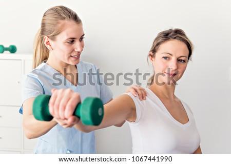 Modern rehabilitation physiotherapy ストックフォト ©