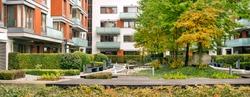 Modern Residential Housing, Urban Living with Shared Garden, Beautiful Greenery, ZEN