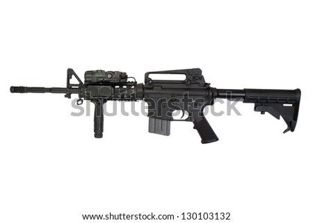 modern rifle isolated on a white background