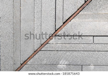 Modern Rock Floor Texture made of thin rocks
