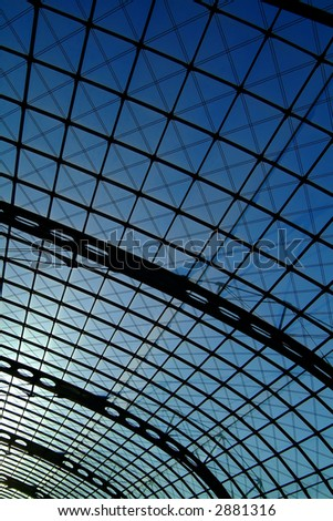 modern roof structure, berlin central station