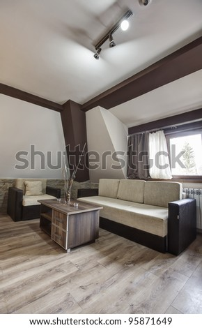 Modern room - stock photo