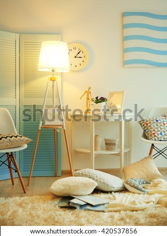 Modern room design interior #420537856