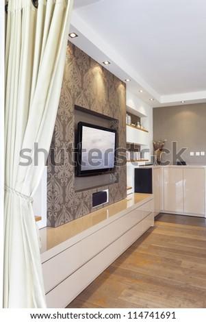 Modern room with plasma tv