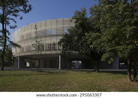 modern round building