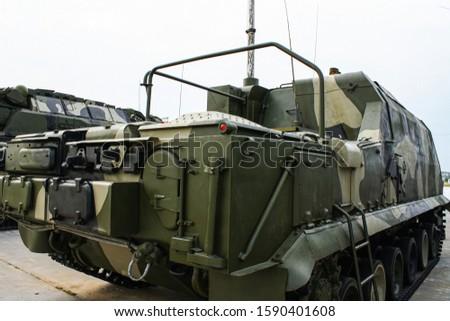 Modern russian military technics for demonstration