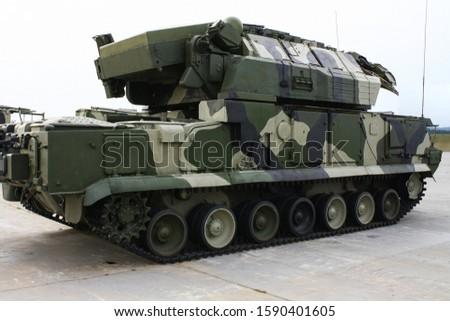 Modern russian military technics in a row