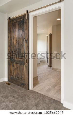 Modern Rustic Sliding Barn Door 1035662047