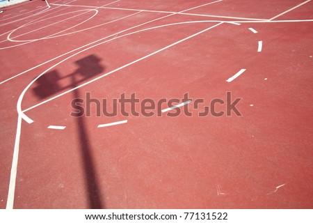 Modern school sports field.