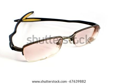 modern shape sport eye glasses isolated on white background