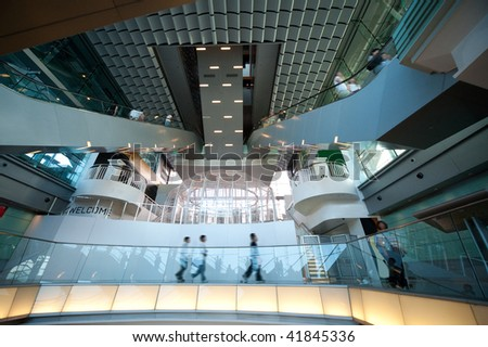 Modern shopping mall - stock photo